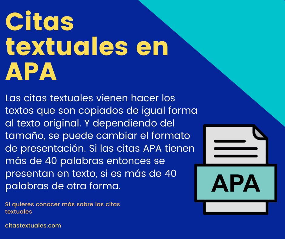 citas textuales en APA