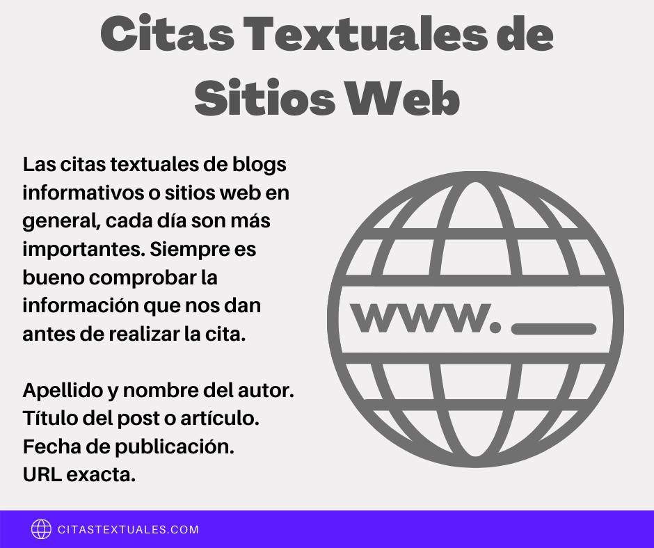 citas textuales de sitios web