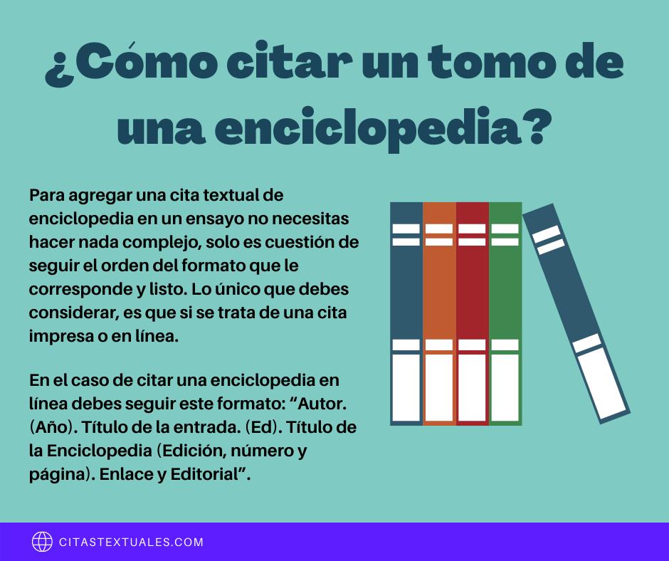 Citas textuales de enciclopedias