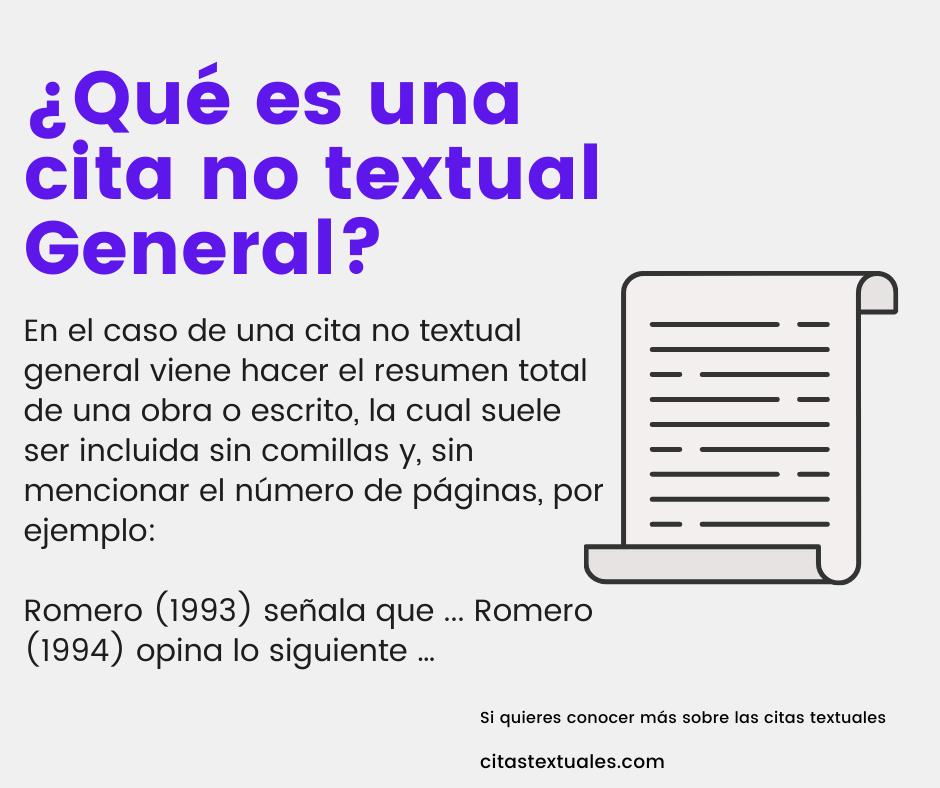 Cita no textual general